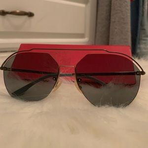 Fendi Gold Pilot Sunglasses FF M0031/S